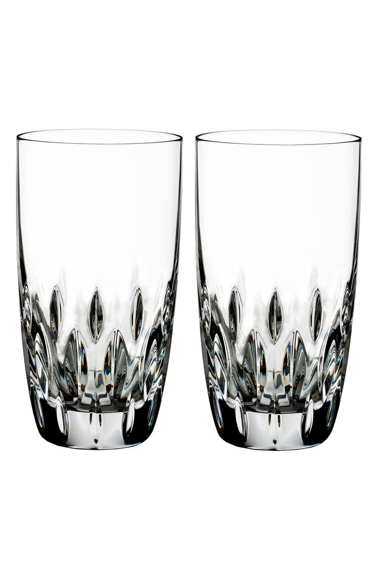 WATERFORD Enis Set of 2 Lead Crystal Highball Glasses, Main, color, CRYSTAL