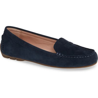 Taryn Rose Karen Water Resistant Driving Loafer- Blue