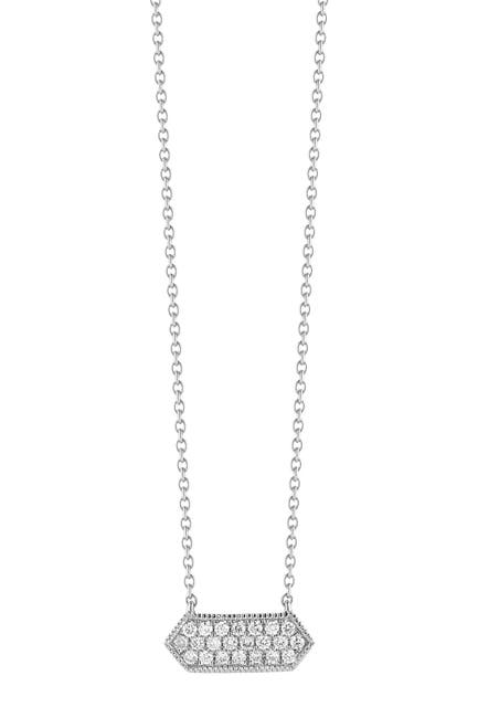 Image of DANA REBECCA 14K White Gold Diamond Accented Cynthia Rose Necklace - 0.13 ctw