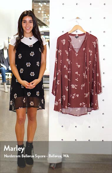 Gemma Tie Neck Long Sleeve Minidress, sales video thumbnail