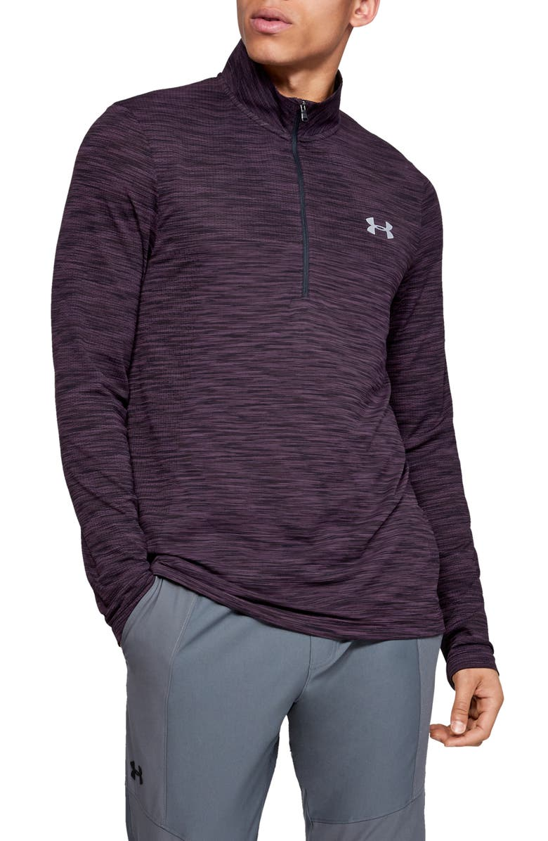 UNDER ARMOUR Siphon Regular Fit Half-Zip Pullover, Main, color, KINETIC PURPLE/ MOD GREY