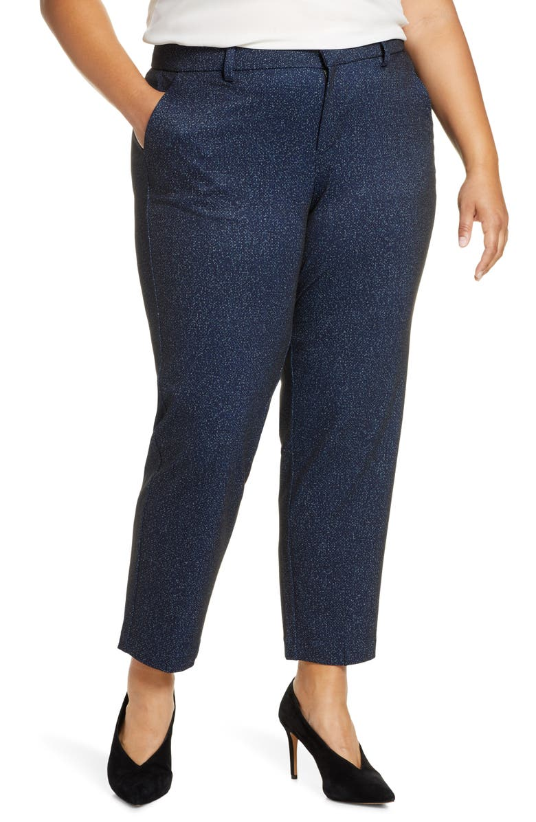 LIVERPOOL Kelsey Knit Trousers, Main, color, NAVY/ BLK PIXEL