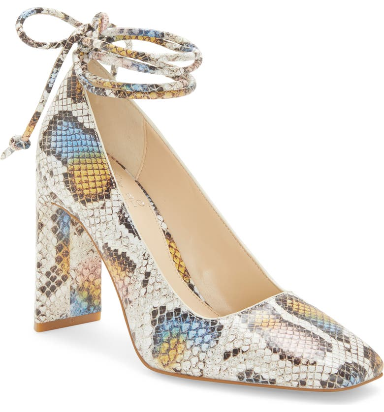 VINCE CAMUTO Damell Lace-Up Square Toe Pump, Main, color, MULTI LEATHER