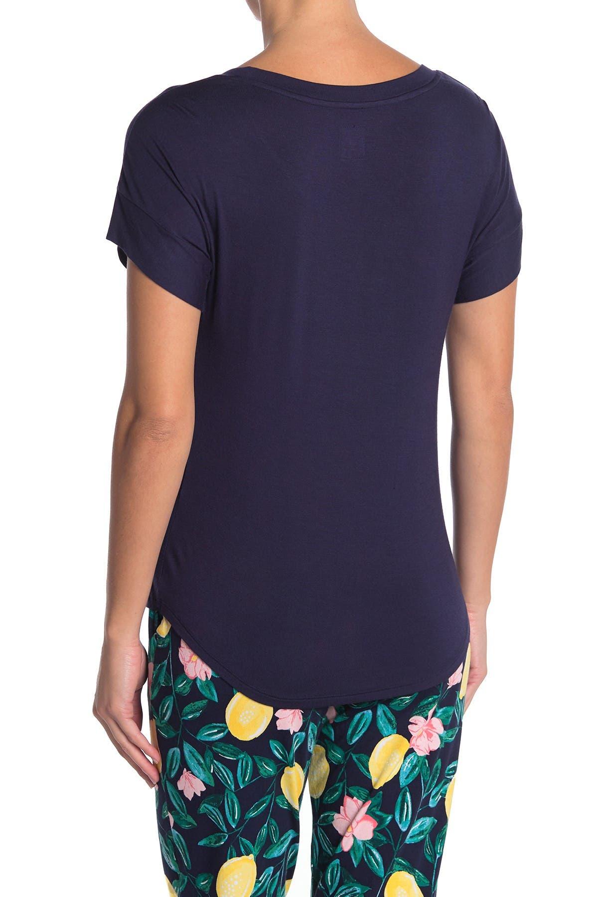Jane & Bleecker New York Short Sleeve Pajama Top