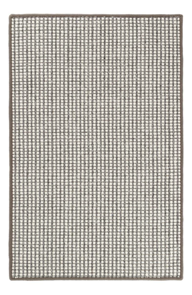 DASH & ALBERT Pixel Woven Rug, Main, color, GREY