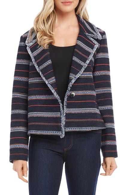 Image of Karen Kane Fringe Trim Jacket