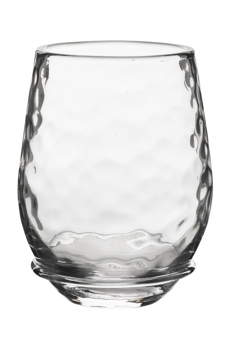JULISKA Carine Stemless White Wine Glass, Main, color, CLEAR