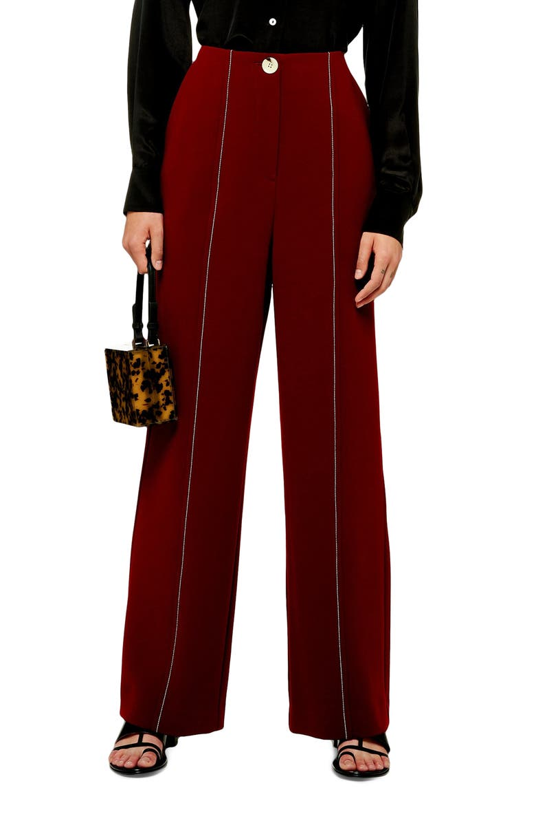 TOPSHOP Wide Leg Trousers, Main, color, 930