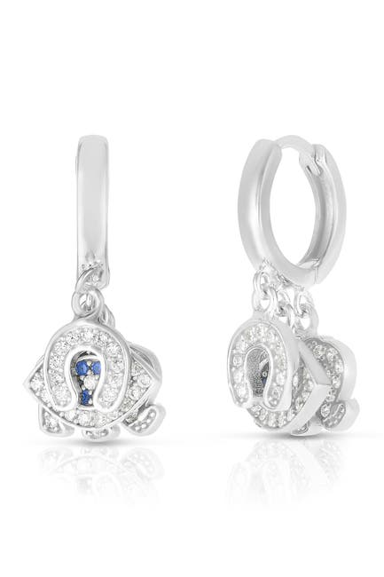 Image of Sphera Milano Rhodium Plated Sterling Silver Charm Earrings