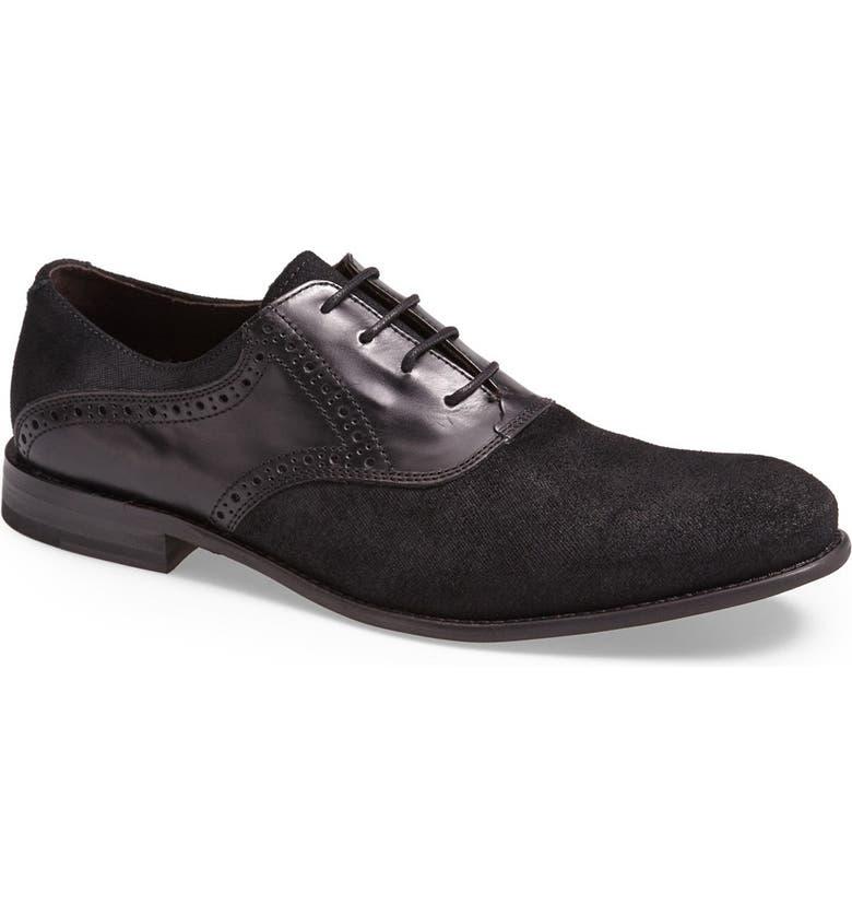 John Varvatos Star USA 'Sid Buck' Laceless Saddle Shoe