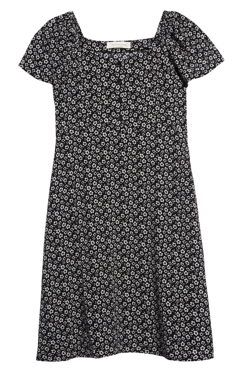 TREASURE & BOND Print Fit & Flare Dress, Main, color, 001