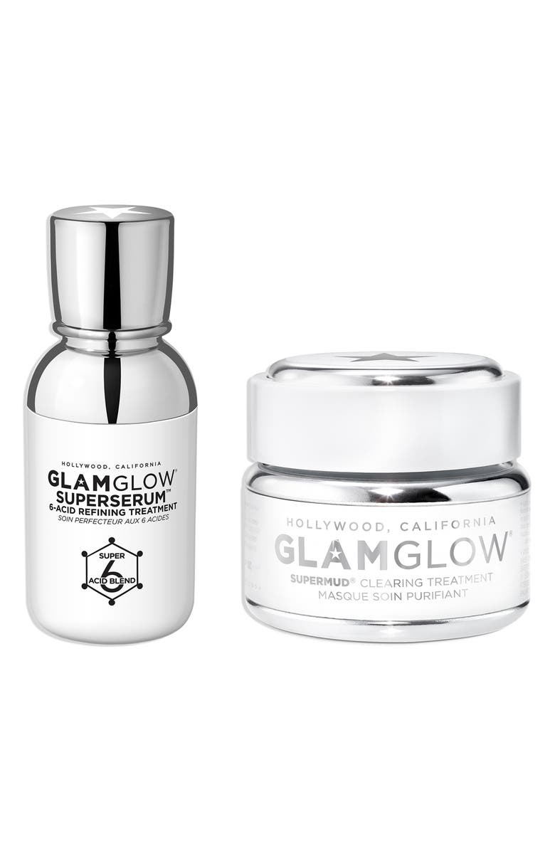 GLAMGLOW<SUP>®</SUP> Super Duo Full Size Clear + Renew Set, Main, color, 000