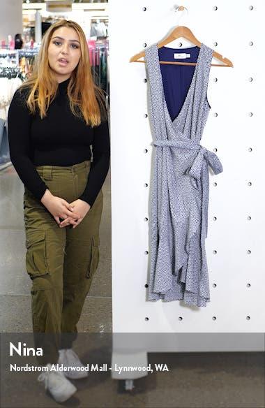 Scallop Dot Wrap Dress, sales video thumbnail