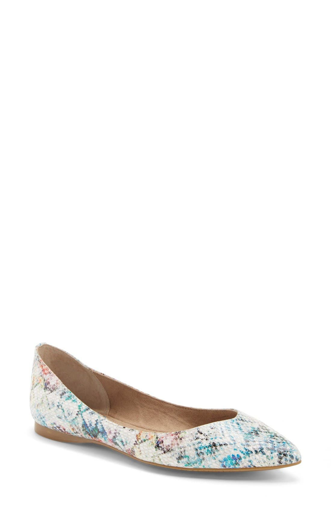 ,                             'Moveover' Pointy Toe Leather Flat,                             Main thumbnail 32, color,                             474