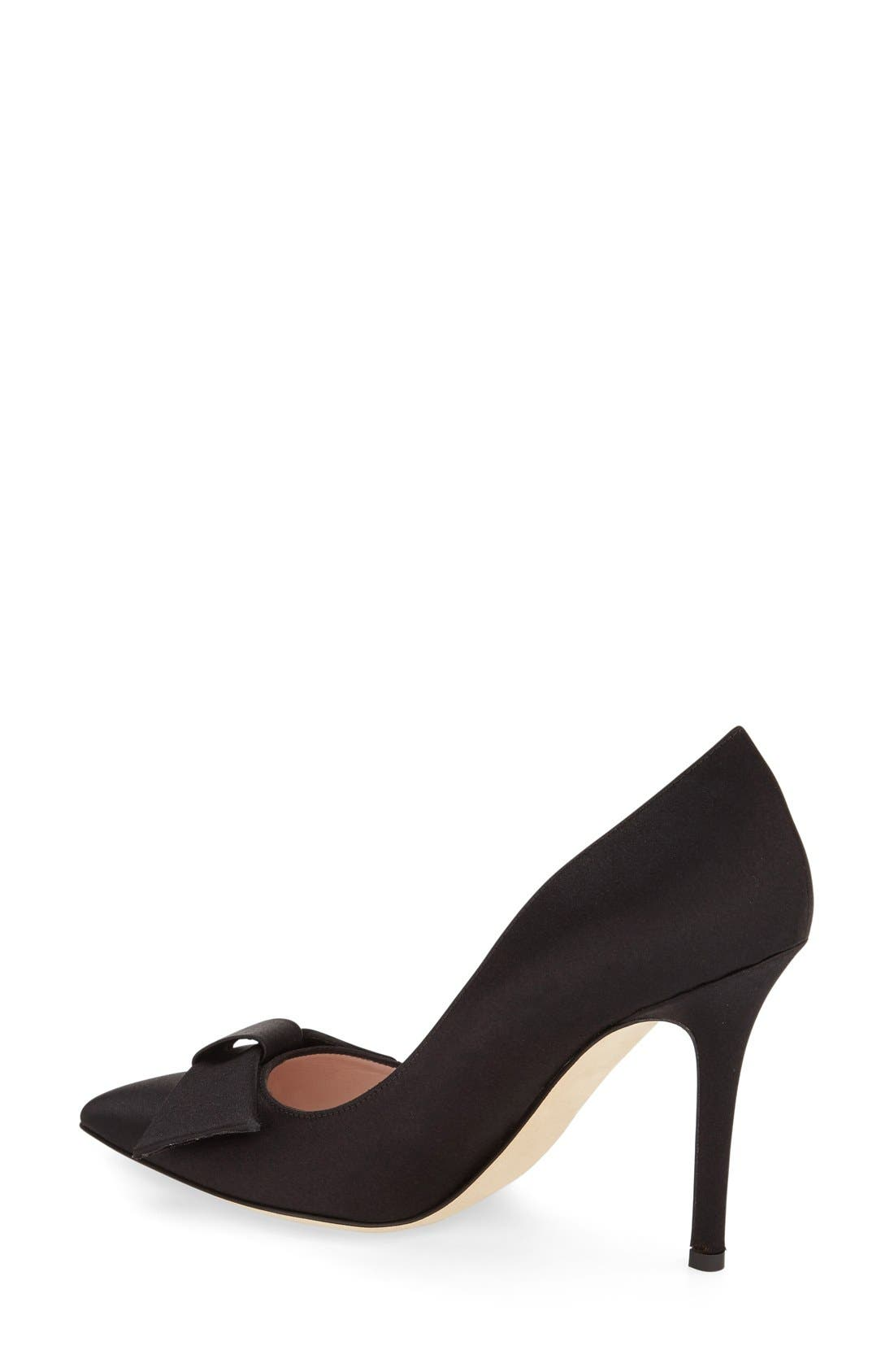 ,                             'layla' pointy toe pump,                             Alternate thumbnail 3, color,                             001