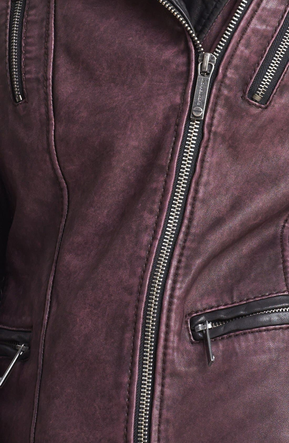 ,                             Two Tone Washed Leather Jacket,                             Alternate thumbnail 3, color,                             930