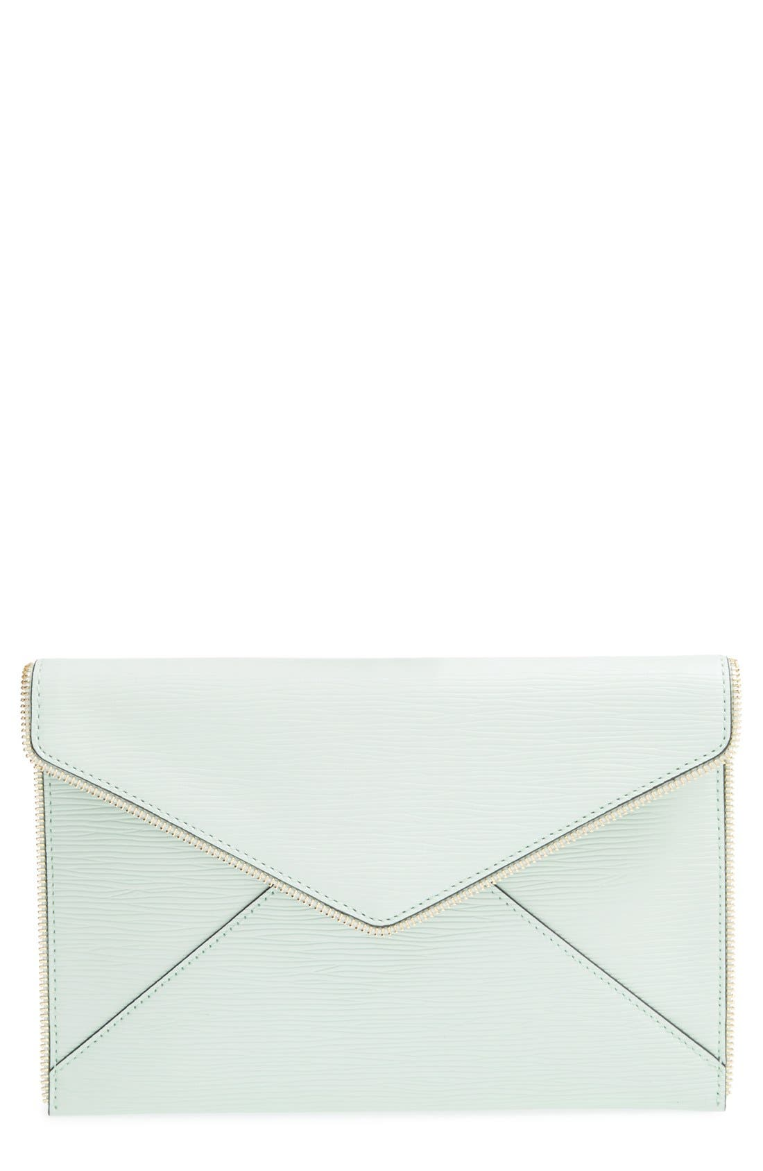 ,                             Leo Envelope Clutch,                             Main thumbnail 169, color,                             401
