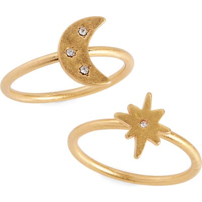 Madewell Spaced Out Set Of 2 Rings