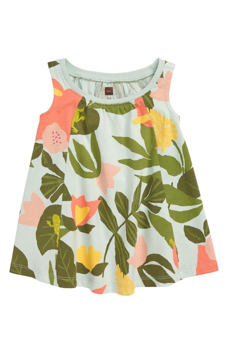 TEA COLLECTION Print Trapeze Dress, Main, color, 333
