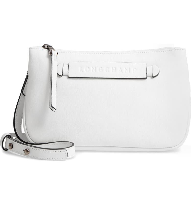 LONGCHAMP 3D Leather Crossbody Bag, Main, color, 100