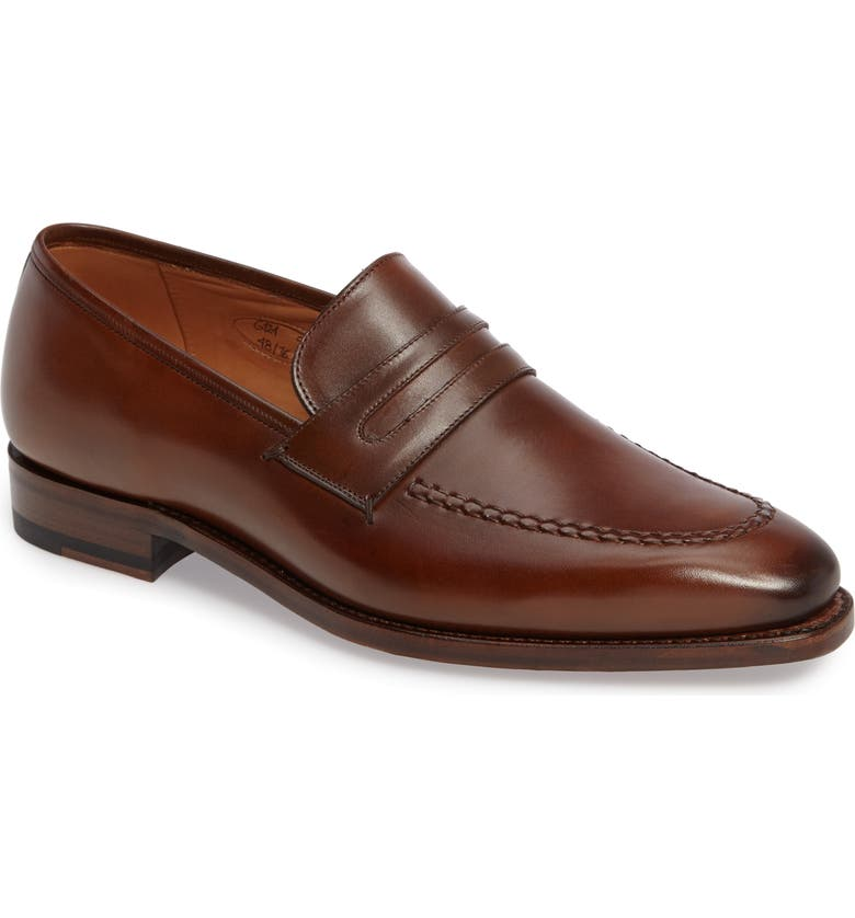 IMPRONTA BY MEZLAN G124 Apron Toe Loafer, Main, color, COGNAC