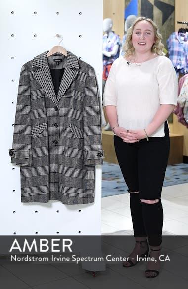 Plaid Mix Wool Blend Coat, sales video thumbnail