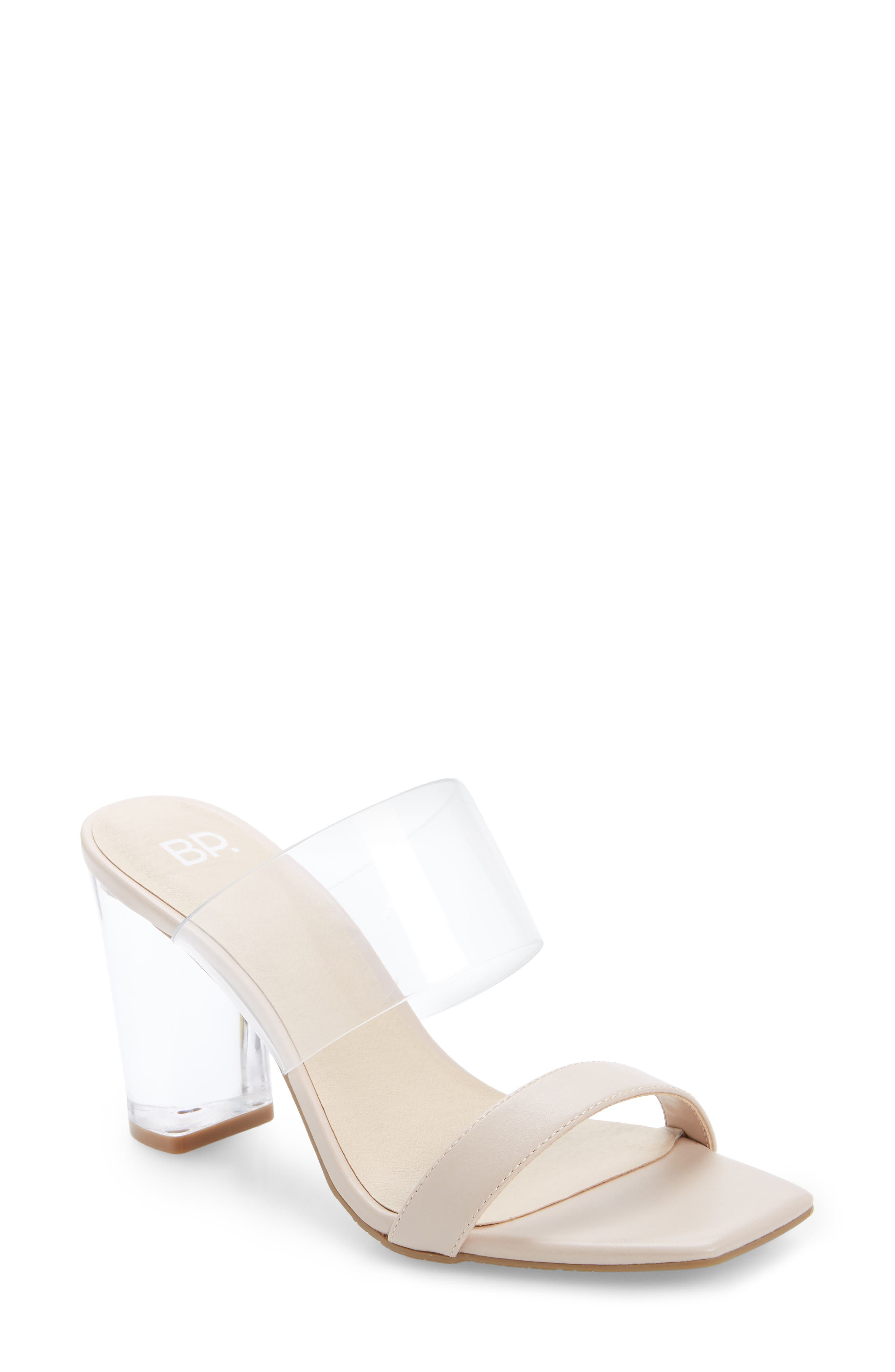 A transparent heel heightens the modern intrigue of this sleek, minimalist sandal. Style Name: Bp. Naomi Sandal (Women). Style Number: 5874144. Available in stores.