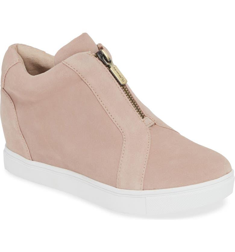 BLONDO Glenda Waterproof Sneaker Bootie, Main, color, LIGHT PINK SUEDE