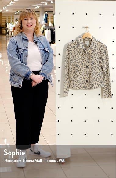 Faded Leopard Sweater Jacket, sales video thumbnail