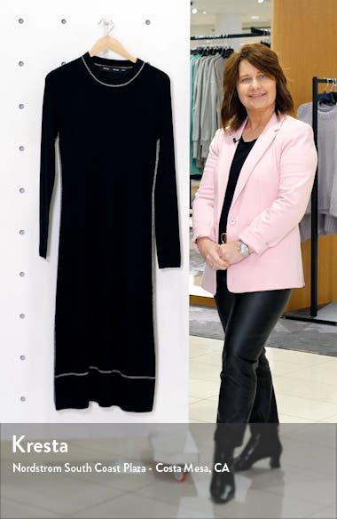 Silk Blend Long Sleeve Midi Dress, sales video thumbnail