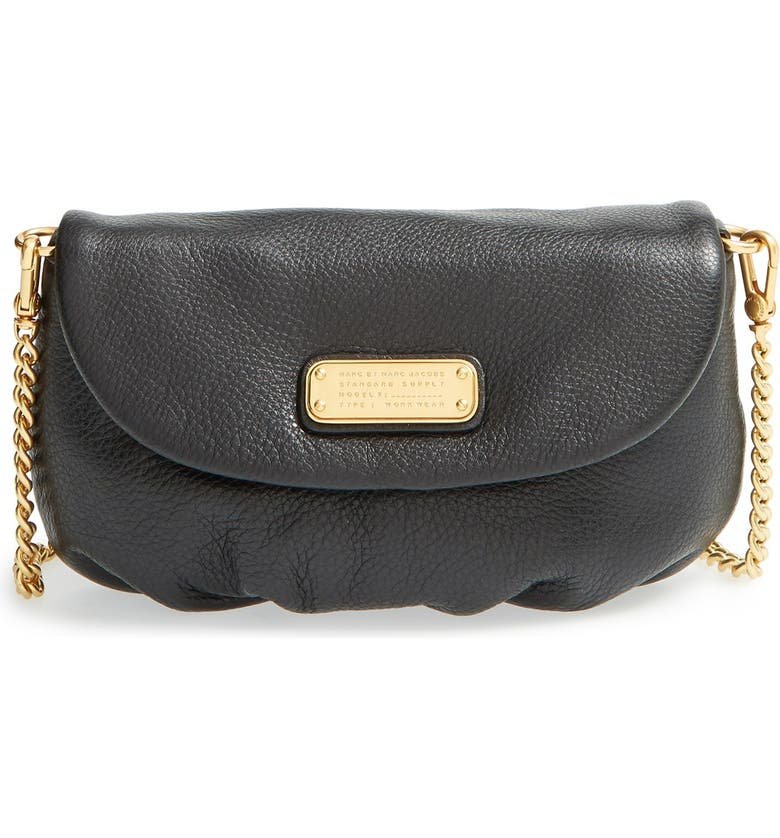 MARC JACOBS MARC BY MARC JACOBS 'New Q - Karlie' Crossbody Flap Bag, Main, color, 001