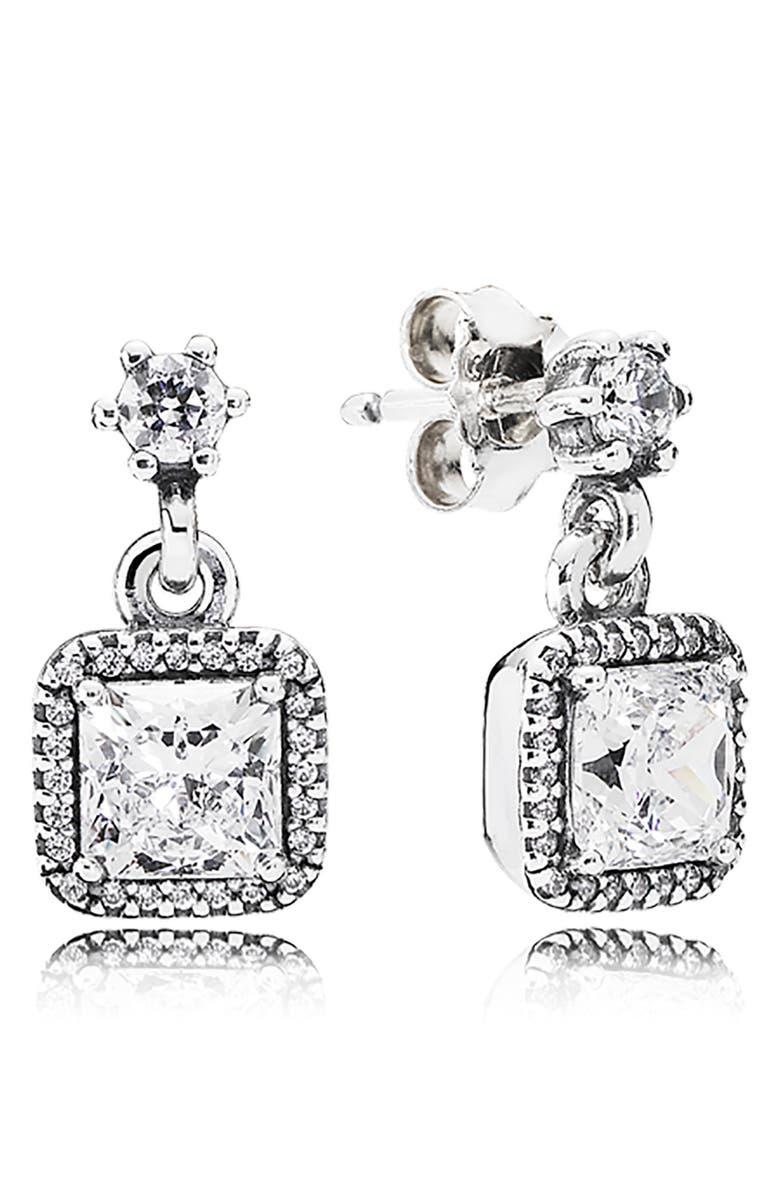 PANDORA 'Timeless Elegance' Drop Earrings, Main, color, 042