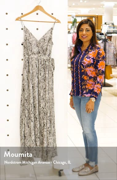 Snake Print Sleeveless Maxi Dress, sales video thumbnail