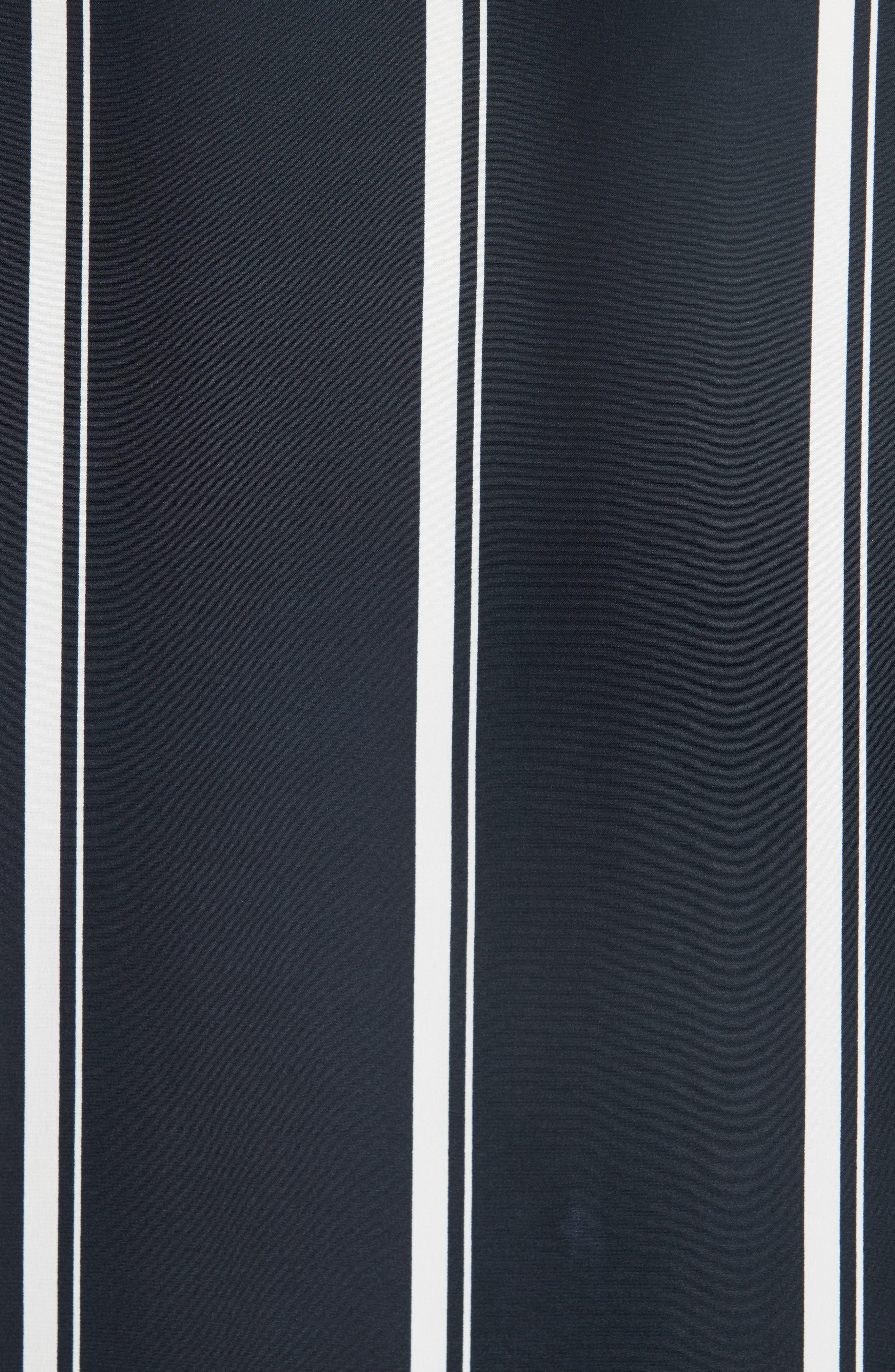 ,                             Debbie Stripe Silk Blouse,                             Alternate thumbnail 5, color,                             NAVY STRIPE