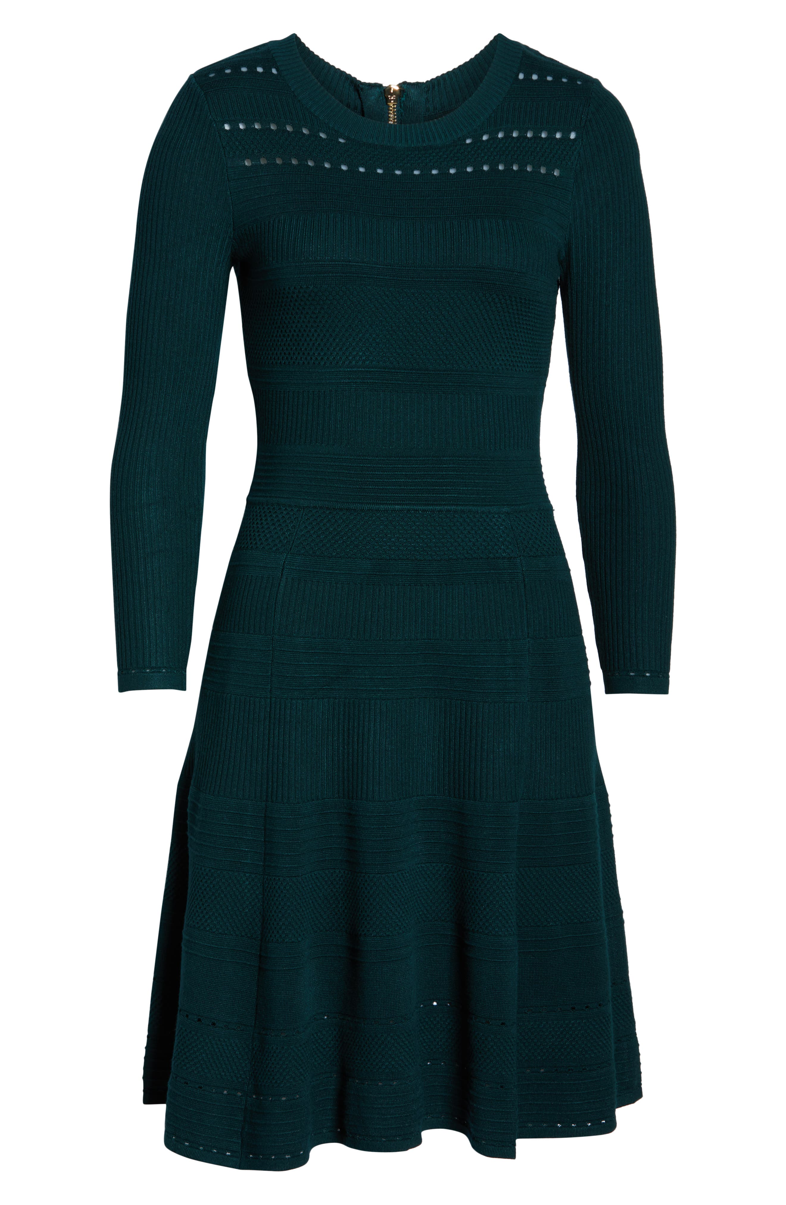 ,                             Fit & Flare Sweater Dress,                             Alternate thumbnail 19, color,                             315