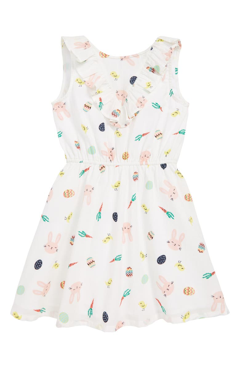 TUCKER + TATE Springtime Dress, Main, color, IVORY EGRET EASTER PRINT
