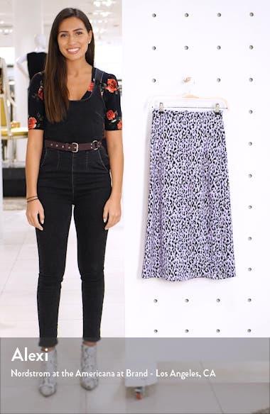 x Claudia Sulewski Front Slit Midi Skirt, sales video thumbnail