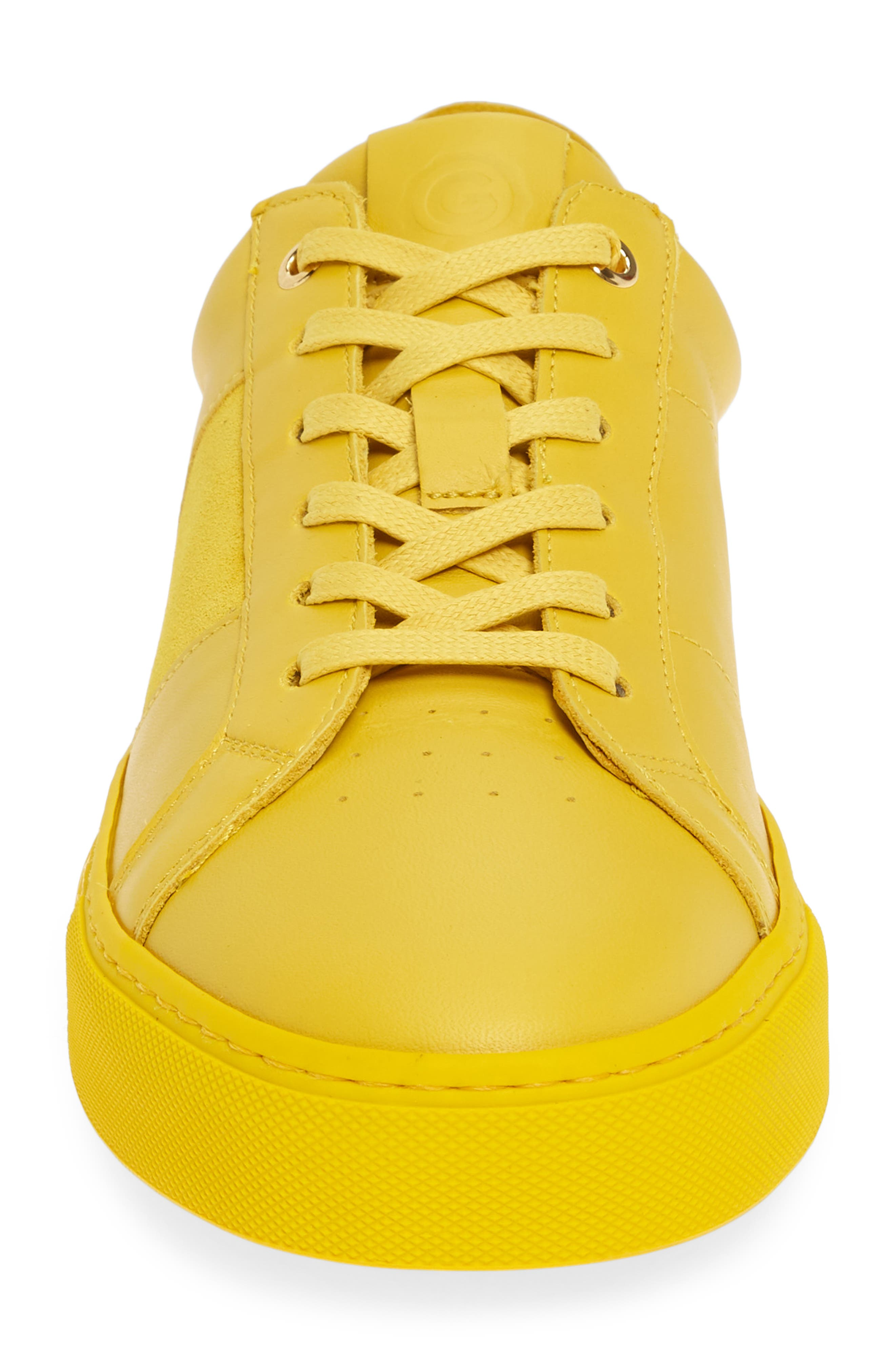 ,                             Royale Sneaker,                             Alternate thumbnail 4, color,                             YELLOW LEATHER