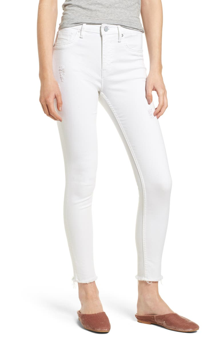 VIGOSS Chelsea High Waist Crop Skinny Jeans, Main, color, 100