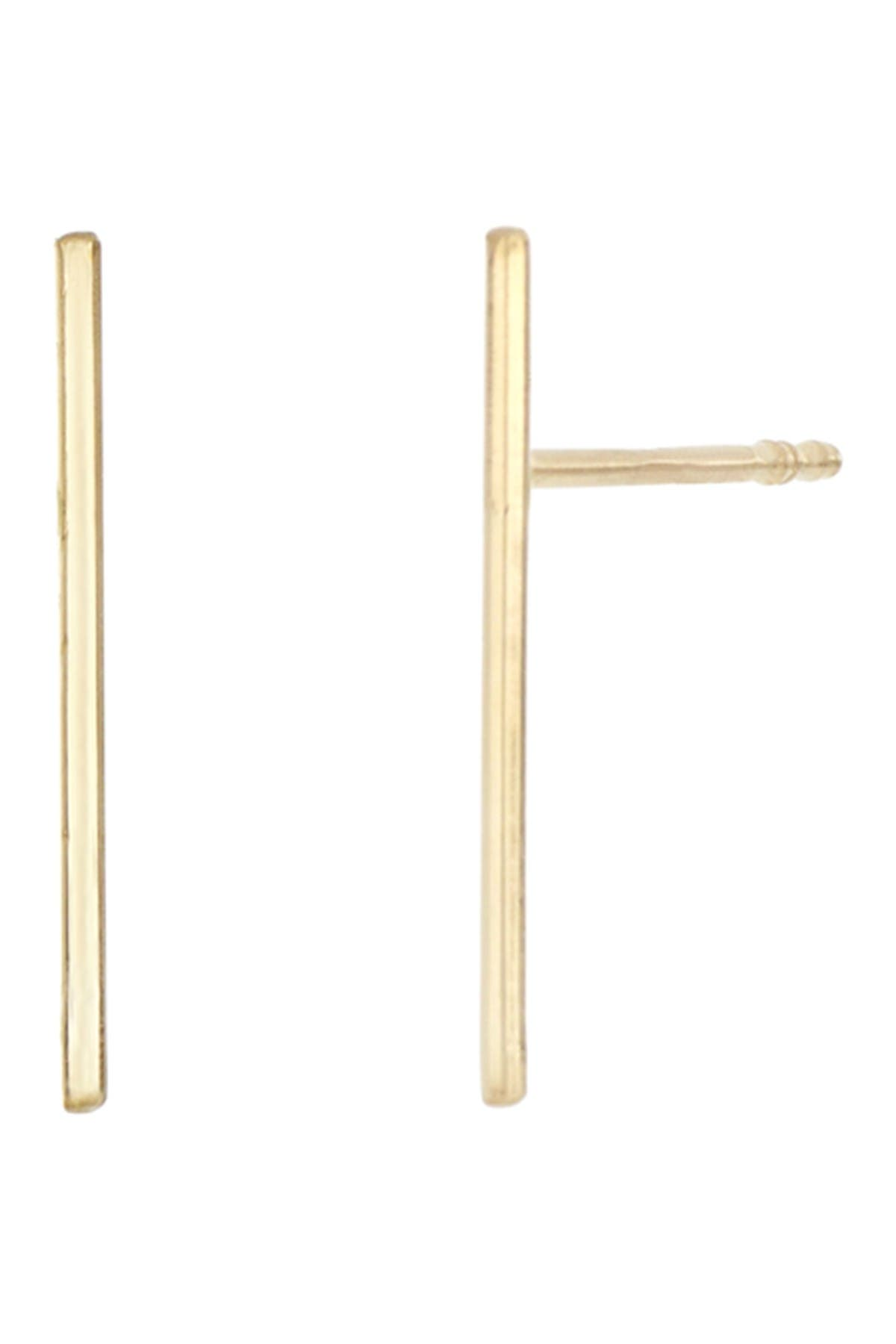 Image of Bony Levy 14K Yellow Gold Thin Stick Earrings