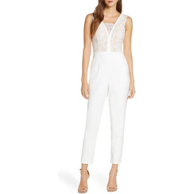 Adelyn Rae Sophie Lace Jumpsuit, White