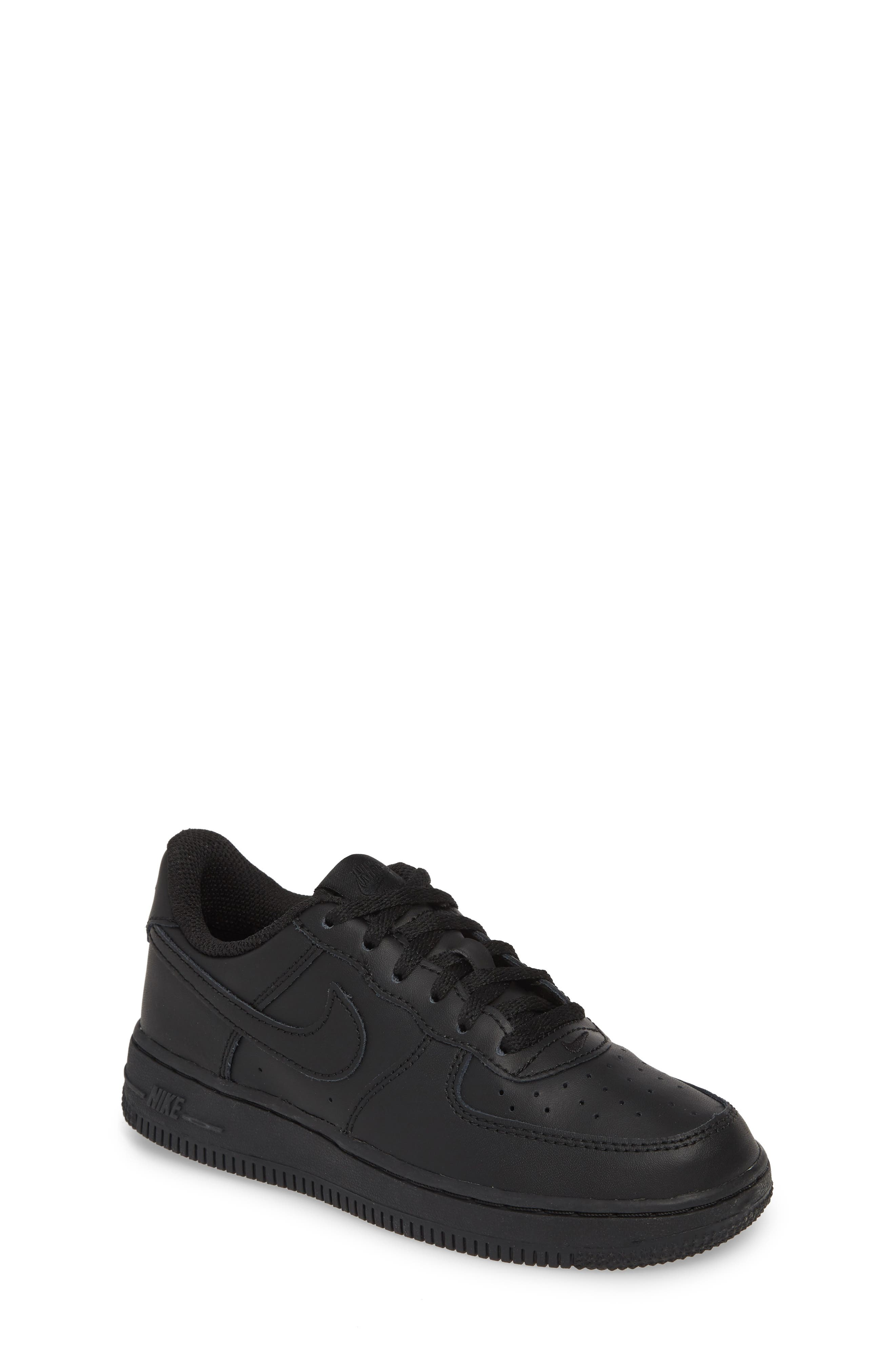 Air Force 1 Sneaker, Main, color, BLACK/ BLACK