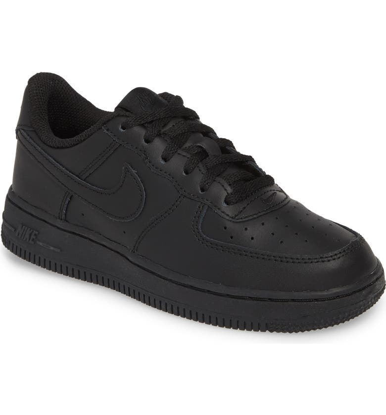 NIKE Air Force 1 Sneaker, Main, color, BLACK/ BLACK