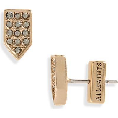 Allsaints Pave Geometric Stud Earrings