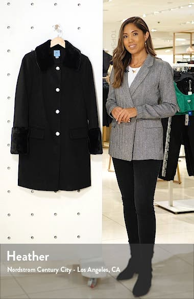 Twill Coat with Faux Fur Trim, sales video thumbnail