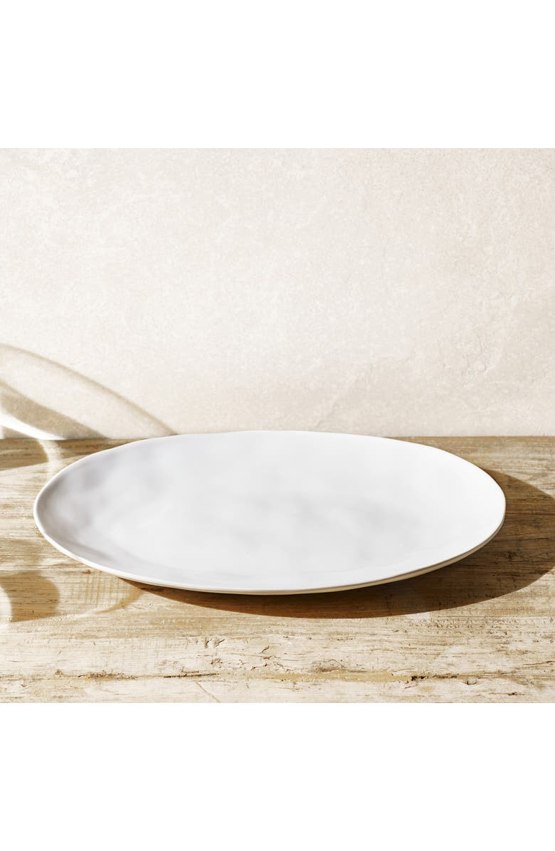 THE WHITE COMPANY Portobello Large Serving Platter, Main, color, WHITE