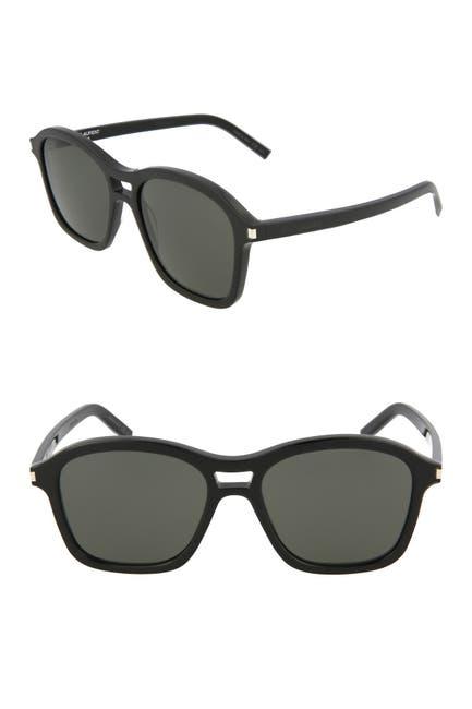 Image of Saint Laurent 54mm Modified Square Sunglasses