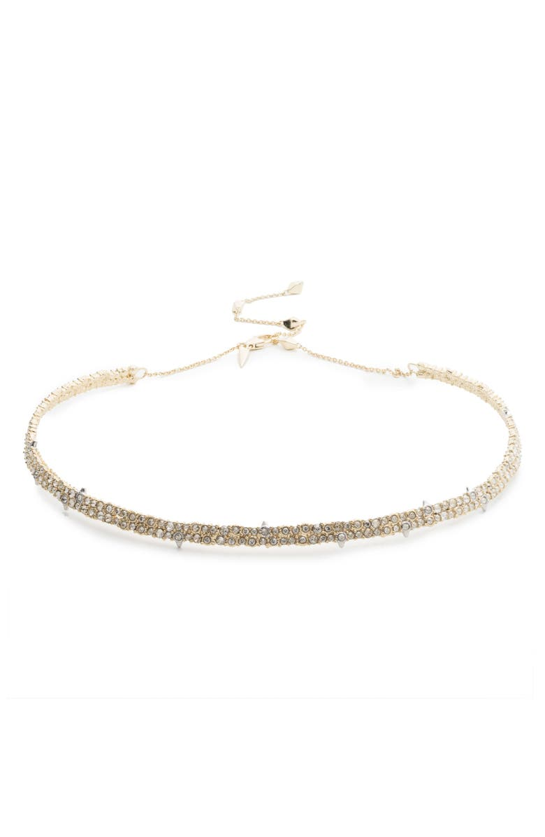 ALEXIS BITTAR Crystal Choker, Main, color, CRYSTAL/ GOLD