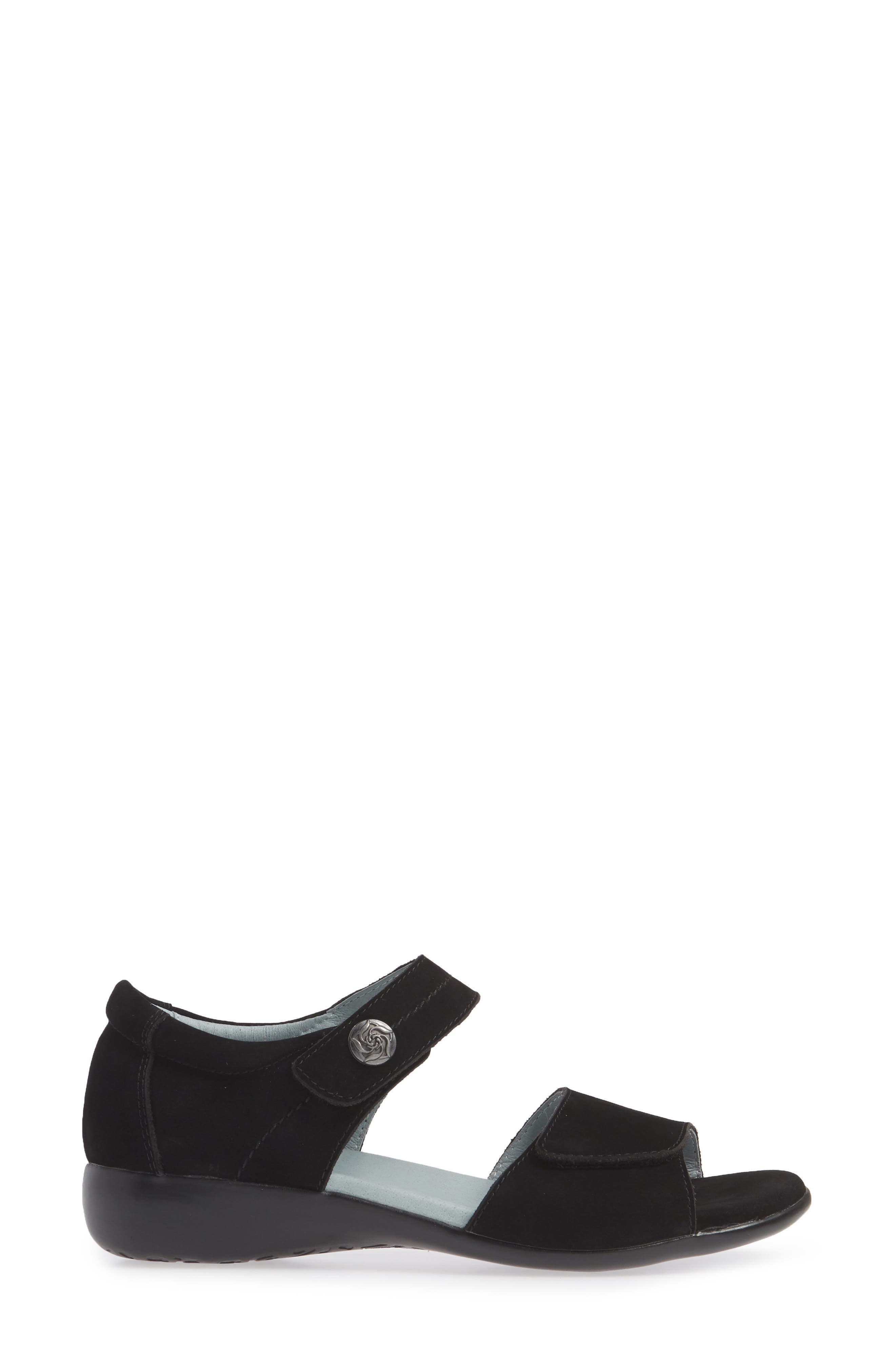 ,                             Superb Sandal,                             Alternate thumbnail 3, color,                             BLACK NUBUCK LEATHER
