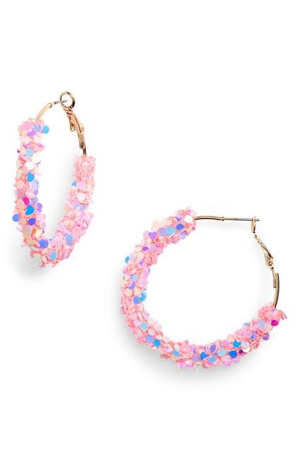 Image of BP. Multicolor Sequin Mini Hoop Earrings